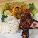 Rijst met pom (kip of vegan)